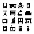 Furniture Icons three — Stock Vector