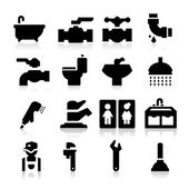 Plumbing icons — Stock Vector