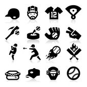 Baseball Icons — Stock Vector