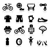 Bisikleti simgesi — Stok Vektör