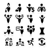 Zarif serisi iş kavramı icons set — Stok Vektör