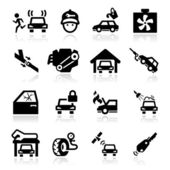 Car Service Icons set Elegant series — Stock Vector