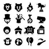 Circus Icons — Stock Vector
