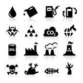 Pollution icons — Stock Vector