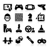 Divertidos iconos — Vector de stock