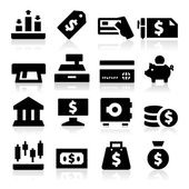 Money icons — Stok Vektör