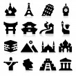 Stock Vector: Landmarks Two Icons