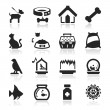 Pets icons set Elegant series — Image vectorielle