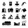 Oil icons — Stock Vector