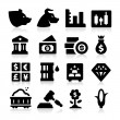 Trading Icons — Stock Vector