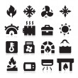 Heating icons — Image vectorielle