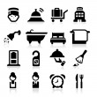 Hotel Icons set elegant series — Stock Vector