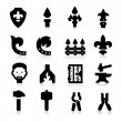 Iron Works Icons — Stockvector #24539885