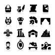 History and culture icons - Image vectorielle
