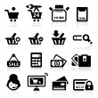 Shopping icons set elegant series — Stock Vector