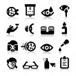 Optometry icons — Grafika wektorowa