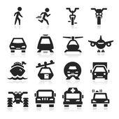 Transportation Icons set elegant series — Stock Vector