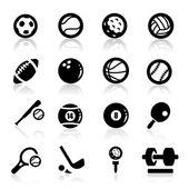 Sports icons set Elegant series — Stock Vector