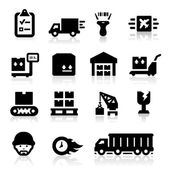 Logistics icons set — Stock Vector