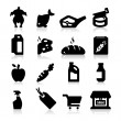 Stock Vector: Supermarket Icons Two