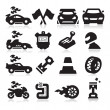 Racing Icons — Stock Vector