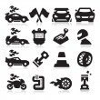 Stock Vector: Racing Icons