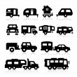 Recreational Vehicles Icons — Imagen vectorial