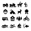 Recreation Icons — Stock Vector #25342411