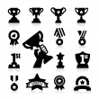 Stock Vector: Trophy and Awards Icons