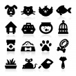 Stock Vector: Pet and Animals Icons