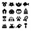 Pet and Animals Icons — Stock Vector