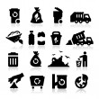 Stock Vector: Garbage Icons