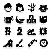 Preschool pictogrammen — Stockvector