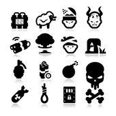 Terrorism Icons — Stock Vector