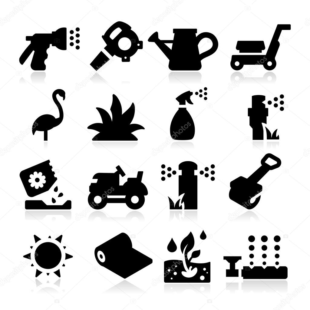 Lawn Icons Stock Vector Tantoon 25342437