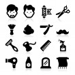 Barber Icons — Stock Vector