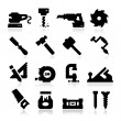 Stock Vector: Carpentry Icons