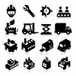 Factory Icons — Stock Vector #26873643