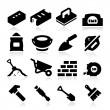 Bricklayer Icons — Stock Vector #26873665
