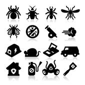 Exterminator Icons — Stock Vector