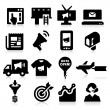 Marketing Icons — Stockvectorbeeld