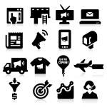 marknadsföring ikoner — Stockvektor