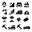 Stock Vector: Mining Icons