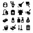 Cleaning Icons — Stok Vektör #27551899