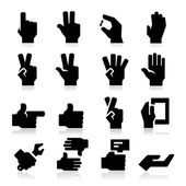 Hands Icons Two — Stock Vector