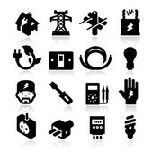 Electricity Icons — Stock Vector