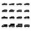 Stock Vector: Cars Icons three