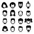 People Icons four — Vector de stock #32870277