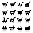 Shopping Cart Icons — Image vectorielle