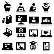 Online Education Icons — Stock Vector